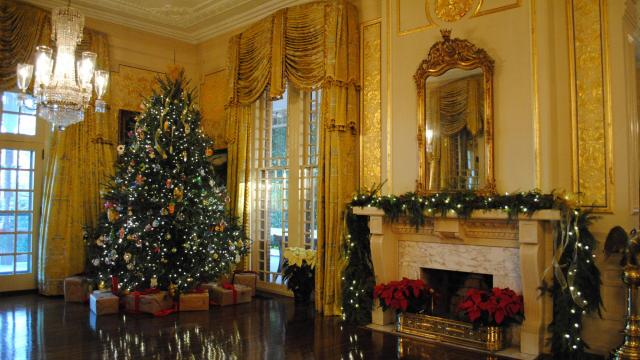 The governor's home is open for several days in December each year. Courtesy: N.C. Department of Natural and Cultural Resources