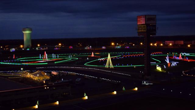 nightly through dec 31 closed dec 25 the public can drive speedway christmas at charlotte motor
