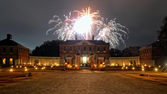 A Christmas Candlelight Celebration at Tryon Palace, New Bern. Credit: N.C. Department of Natural and Cultural Resources