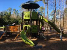 The Wake County park opened a new playground in November 2016.