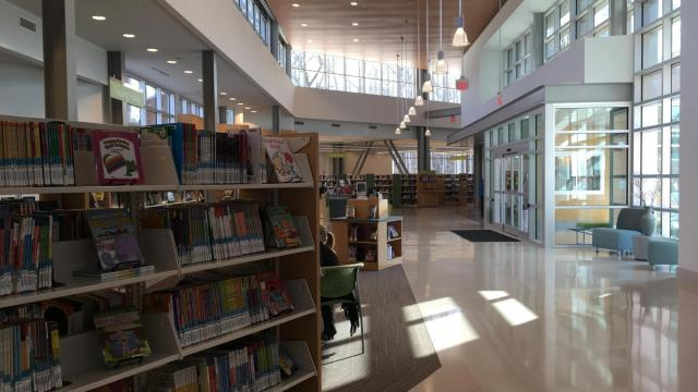 The Wake County library opened in April 2016.