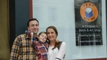 Christine Brenner, owner of Read With Me, with her family
