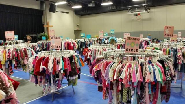 The sale features gently used children's clothes, toys and gear. Courtesy: Facebook
