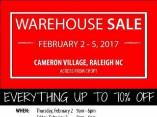 The sale features new, discounted items for babies to tweens at Cameron Village shopping center - Feb. 2 to Feb. 5. Courtesy: Facebook