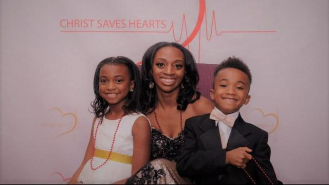 Underdue and her children co-founded Christ Saves Hearts Foundation to honor their husband and father, who died after a sudden heart attack in February 2014.