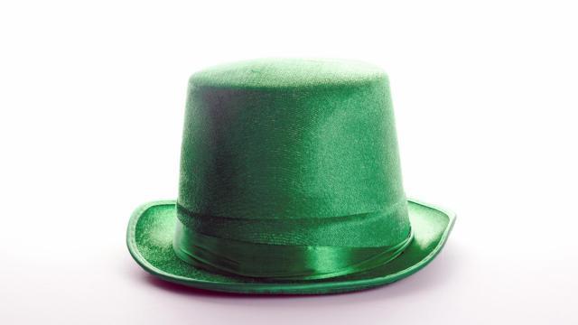 Happy St. Patricks day hat.