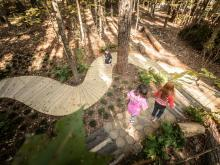 Sensory path at Museum of Life and Science's Hideaway Woods