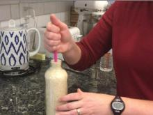 Easy Experiment: Make a floating rice bottle