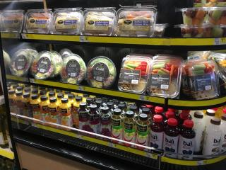 Fresh foods at Dollar General in downtown Raleigh