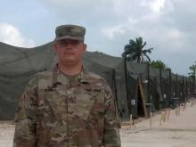 Staff Sergeant Roy Olon sends greetings from Belize