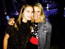 Amanda with her daughter at a recent concert