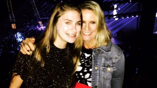 Amanda just wasn't into a recent concert she took her teenage daughter to recently.