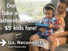 NC By Train offers $5 kids fares this summer