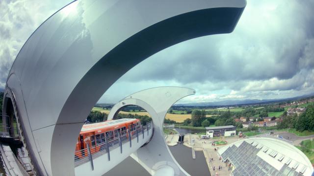 Falkirk Wheel in Scotland