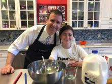 Chef Hannah of Flour Power Kids Cooking Studio with her dad