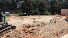 Taylor Street sprayground construction site