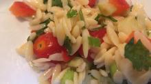 Cilantro lime orzo salad