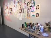IMAGES: Pop-up art exhibit asks the public to create self portraits