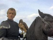 A screenshot from the movie Ladyhawke