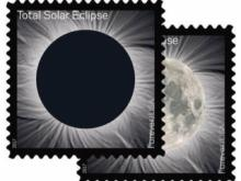 USPS unveils Total Solar Eclipse Stamp