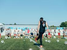 Live Fearless soccer clinic with Mia Hamm