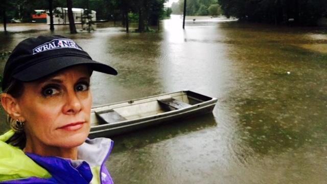 WRAL's Amanda Lamb in Texas covering the aftermath of Harvey