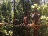 IMAGES: New treetop adventure course opens in north Raleigh