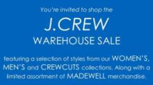 J. Crew warehouse sale in Raleigh in September 2017