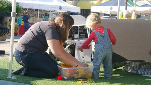 Go Ask Mom and friends enjoyed sunshine, music, crafts and yoga at Midtown Farmer's Market on Saturday, Sept. 9, 2017.