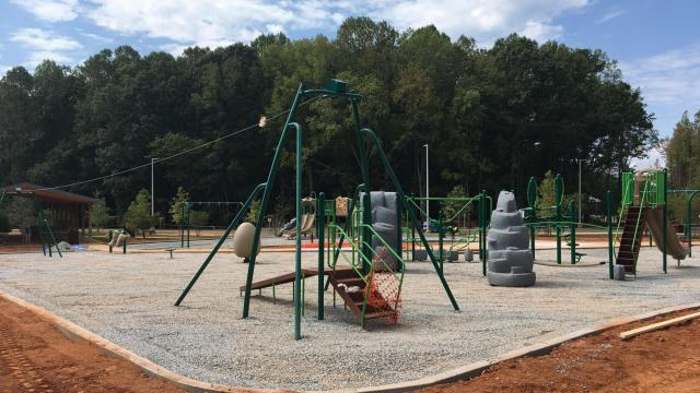 The park and playground at 2100 Old NC 98 in Raleigh is scheduled to open on Sept. 30, 2017.