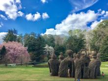 The Big Easy, a sculpture at Duke Gardens by Chapel Hill artist Patrick Doughtery