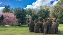 IMAGES: Sculptures by Chapel Hill artist by Patrick Doughtery