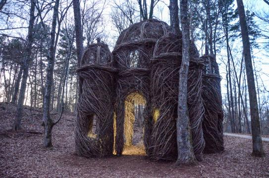 A Sight to Behold, a sculpture by artist Patrick Doughtery in Hillsborough
