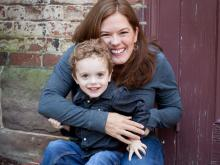 Dr. Natalie Sebba with her son