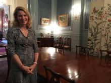 First Lady Kristin Cooper in the Executive  Mansion