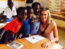 Amanda Lamb in Uganda
