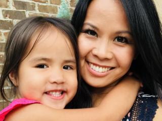 Renee Chou with her daughter Elsa