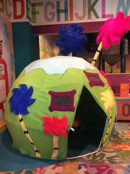 The Lorax-themed fort at Marbles