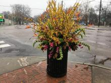 Trash can bouquet in Raleigh