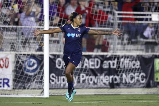 With sun and moon, sky isn't the limit:' NC Courage player