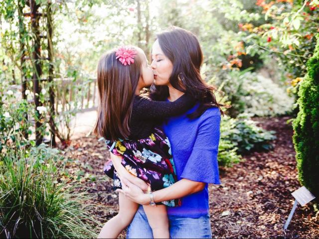 Renee Chou with her daughter Elsa