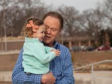 Bill Leslie with his granddaughter Elizabeth
