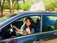 Amanda Lamb's daughter taking driving lessons