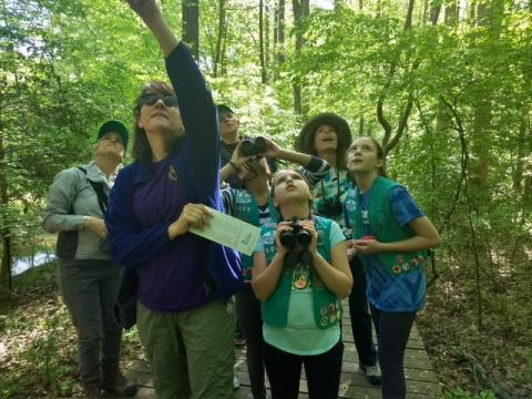 Birding with the Girl Scouts