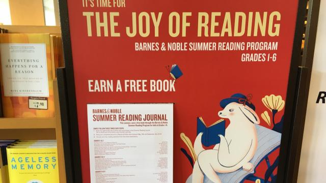 Kids get a free book when they participate in Barnes & Noble's