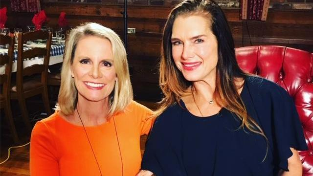 Brooke Shields was at the Angus Barn to talk about her experience with postpartum depression.
