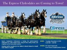 Express Clydesdales stopping in Raleigh
