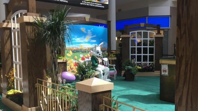 Easter Bunny at Crabtree Valley Mall