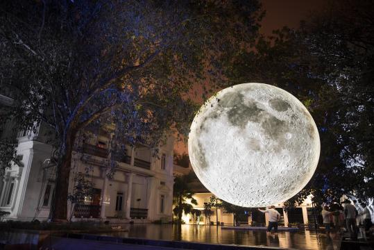 Museum of the Moon by Luke Jerram in India