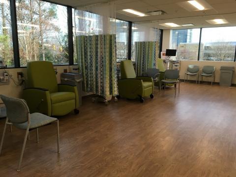 Pediatric infusion wing at UNC REX's new pediatric clinic
